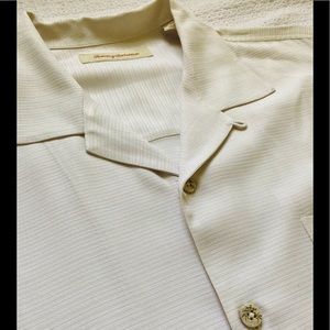 Tommy Bahama off white silk shirt